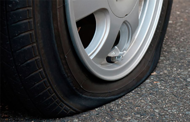 He pinchado la rueda de mi vehículo
